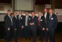 v.l.n.r.: Bodo Löttgen (CDU), Roland Staude (DBB NRW), Sven Wolf (SPD), Himmet Ertürk (vdla), Lutz Linienkämper (CDU), Ulrich Silberbach (dbb), Stefan Engstfeld (BÜNDNIS 90/Die Grünen), Christof Rasche (FDP)