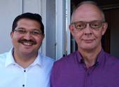 Landesvorsitzender der vdla Gewerkschaft Himmet Ertürk (vorne links), Vorsitzender der Tarifkommission Ralf Muckenhaupt (vorne rechts). Foto © vdla dbb gewerkschaft